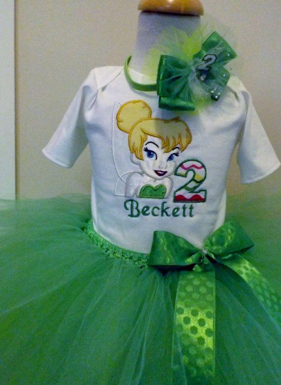 Tinkerbelle Theme Tutu Fairy Birthday Set by AntoinetteExclusives
