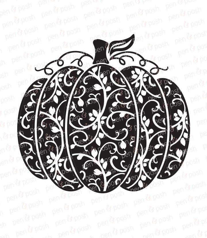 Pumpkin SVG Swirly Pumpkin SVG Pumpkin SVG File