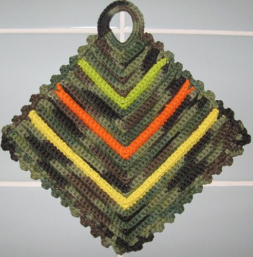 German potholders - the pattern said that every German girl before 1938 had to learn to make these in school and was graded on them.