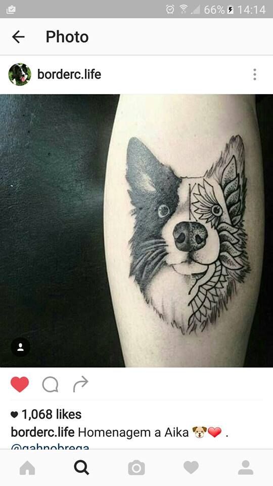 Border collie tattoo.