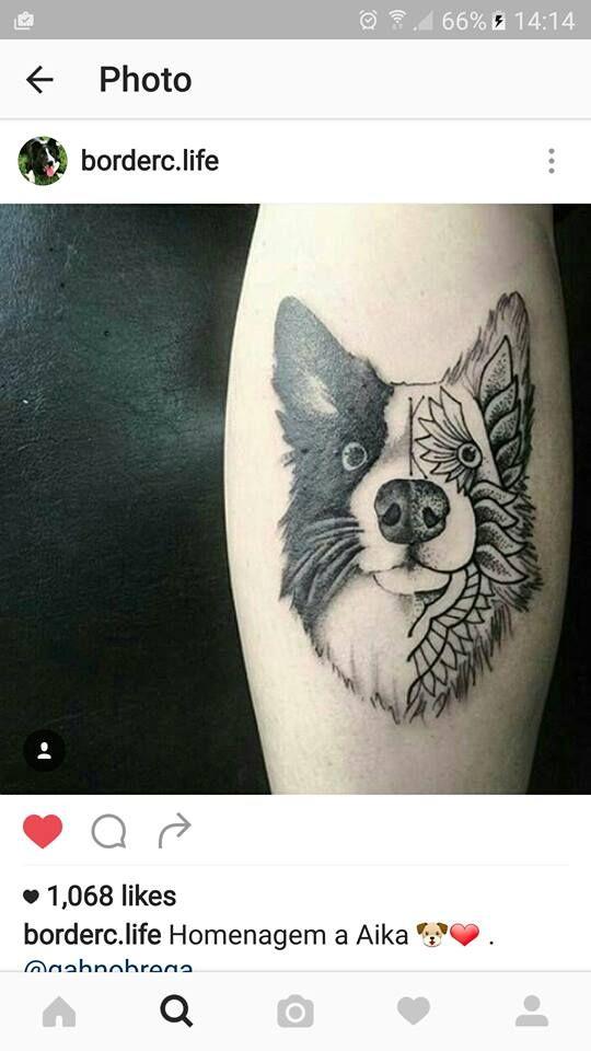 Border collie tattoo.