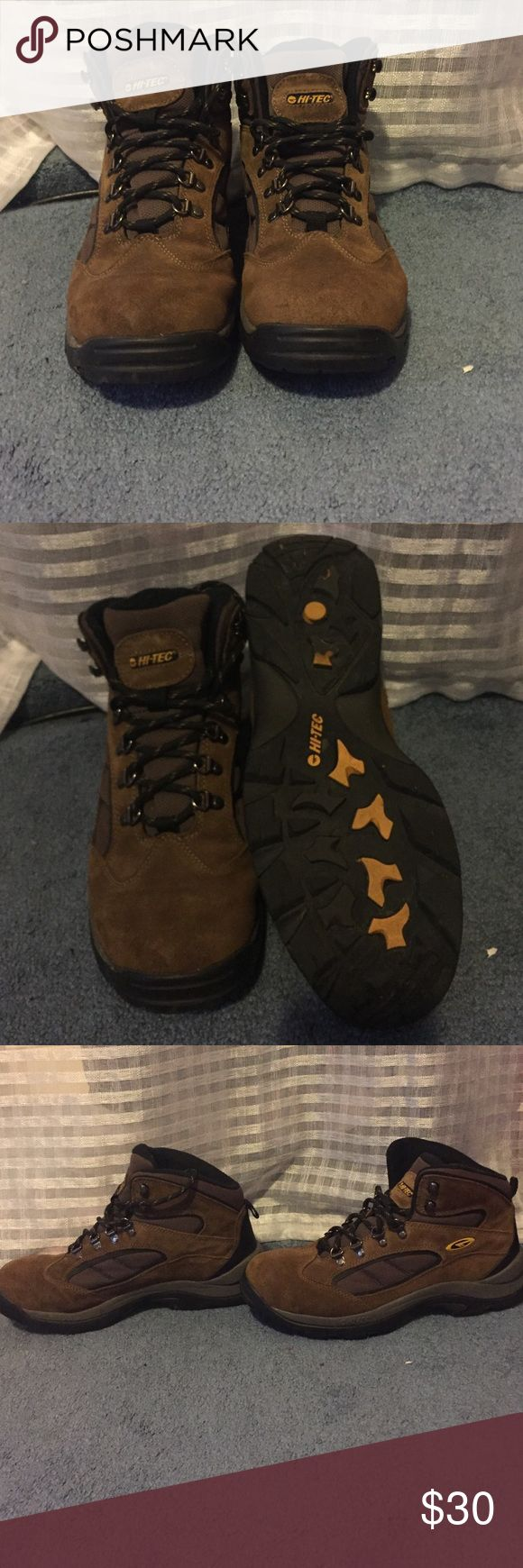 Men's hiking boots Men's hi-tec size 11 hiking boots. Only worn once great condition!! Hi-Tec Shoes Athletic Shoes