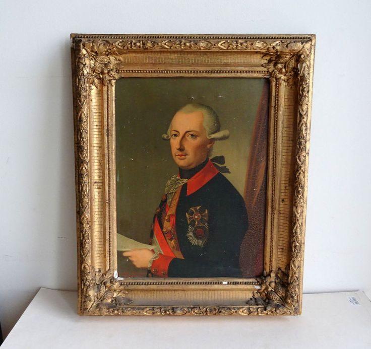 Habsburg Lothringen Joseph II. Römischer Kaiser Frame Portrait Chevaux Legers