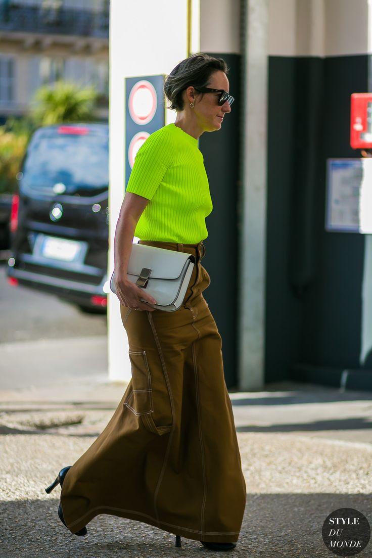 Paris Men's Fashion Week Spring 2018 Street Style: Brigitte Chartrand