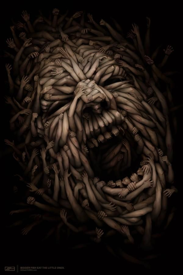 A little scary but amazing detail in it's design. Try to view and enlarged image. Artist: Anton Semenof.