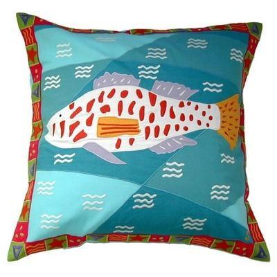 Big Catch Applique Pillow from Susan Sargent