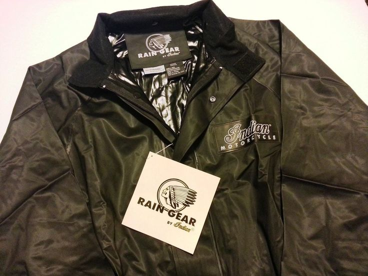 Rare 4XL Waterproof Indian Motorcycle Rain Gear Jacket Brand New w Tags! xxxxl #IndianMotorcycle #RainCoat