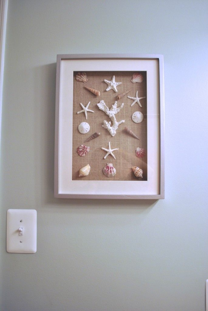Idea for Jason's hall bath: I could make one of these with shells from my collection.