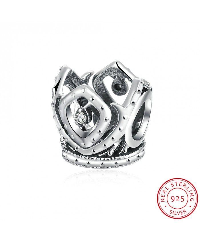925 Sterling Silver Bracelet Charms Geometric White