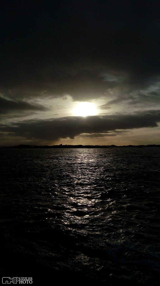 Dramatic ocean view at Kvalen Fyr, Haugesund, Norway