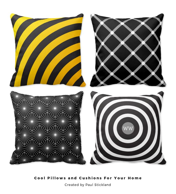 Cool modern patterned, floral and funny pillows for your unique home interior from #PatternStore