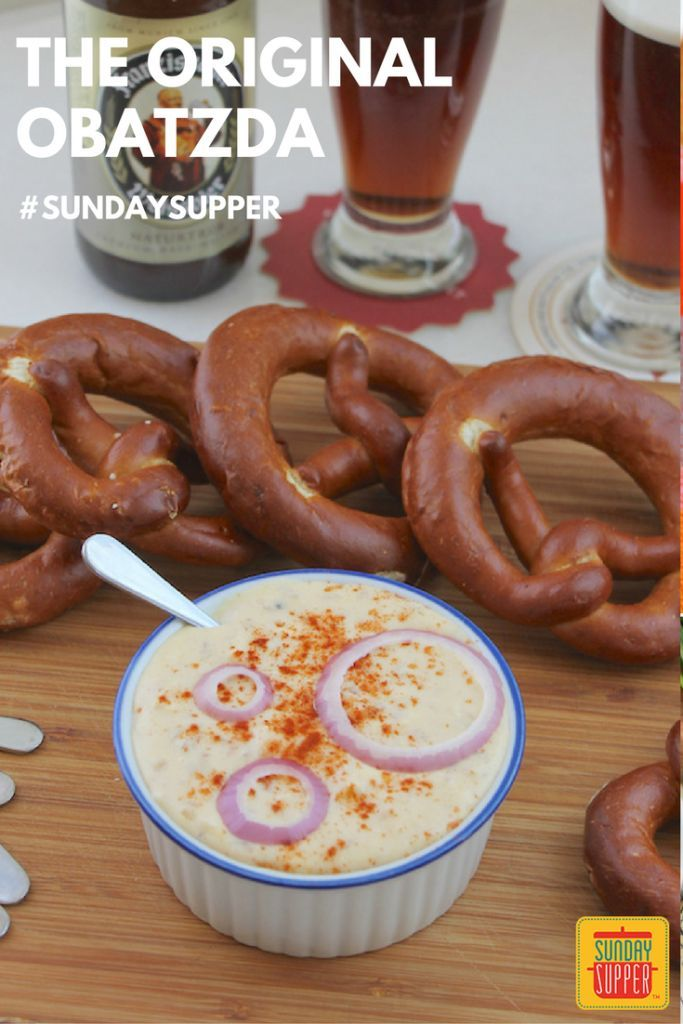 The Original Obatzda - Bavarian Cheese Spread #SundaySupper Also, known as obatzter, obazda, obazde or obazd'n, obatzda is a strong cheese spread made with very ripe Camembert, cream cheese, butter, onions, spices and, of course, beer. It's a classic Bavarian beer garden dish, best enjoyed with a cold stein of Weissbeir or indeed, your own favorite brew.