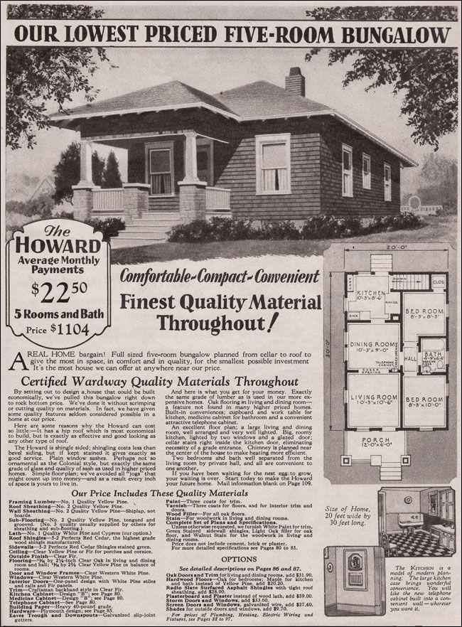 1930 Montgomery Ward Howard In 600 Square Feet The Howard