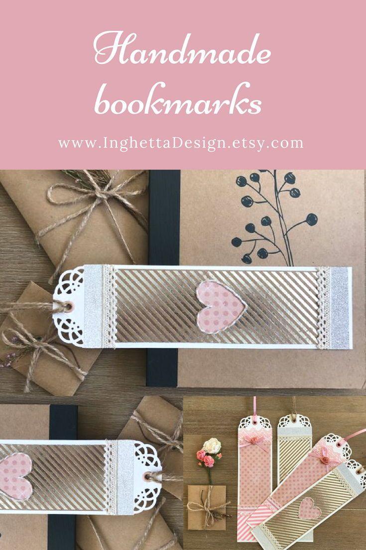 Teacher Appreciation Gift Silver Pink Heart Bookmark Girl Gift