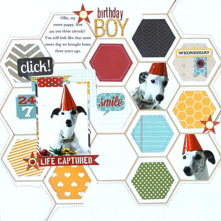 Birthday Boy | Scrapbook Layouts - Birthday | Pinterest