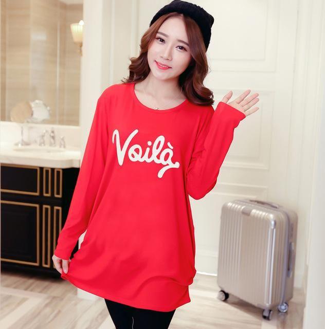2017 Fashion Cartoon T Shirt Women Long Sleeve Tunic Tops Plus Size T-shirts For Women Winter Female T-shirt Camisas Femininas