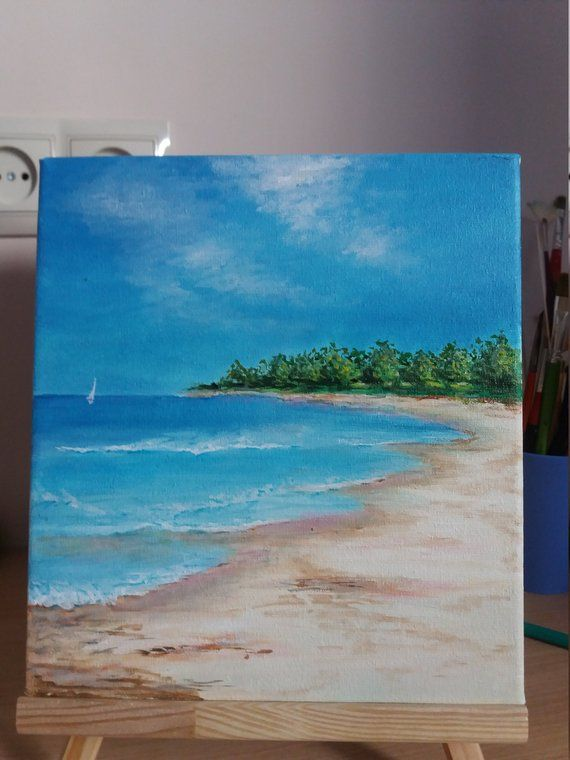 ORIGINAL Oil Painting SEASCAPE, Painting on Canvas, home decor Wall art, fine art painting beach, gift handpaint