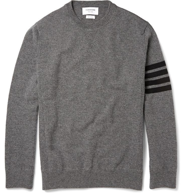 Thom Browne - Striped Cashmere Sweater|MR PORTER