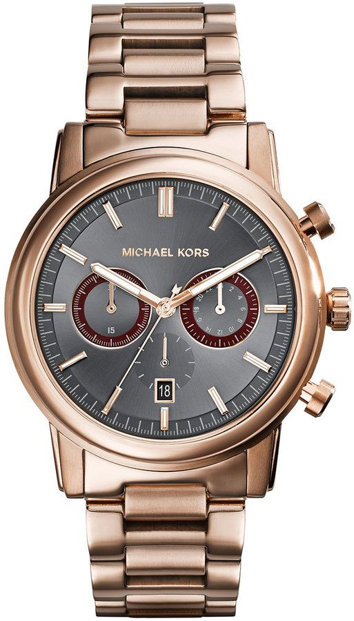 17 best images about watches for men michael kors 295 gold watch michael kors michl kors mid size rose golden stainless steel pennant