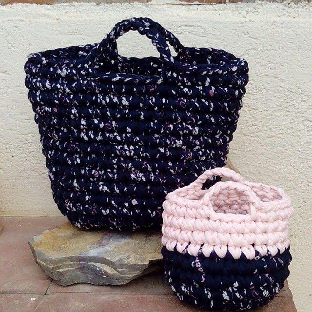 сумка из трикотажных лент trapillo