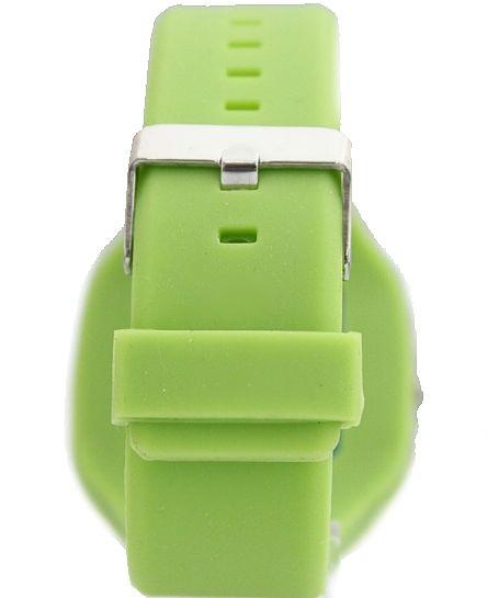 Új Zöld Dial Fehér Watchcase Szilikon Zöld sáv fiú lány divat karóra FW729F