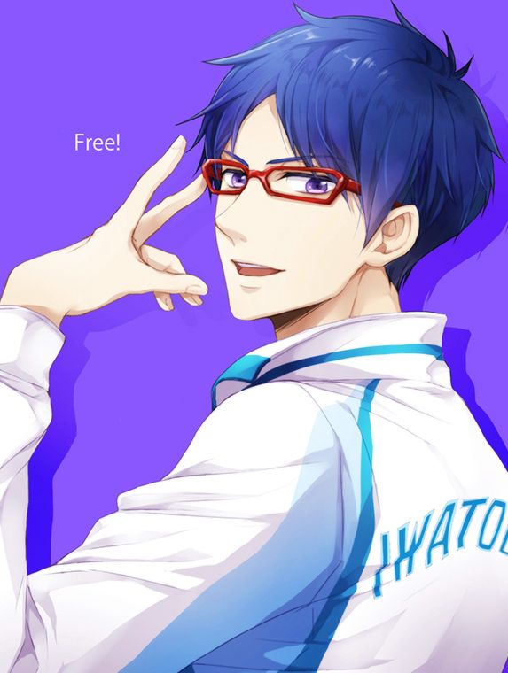 Free! Iwatobi Swim Club- aw, look at Rei and Nagisa in the
