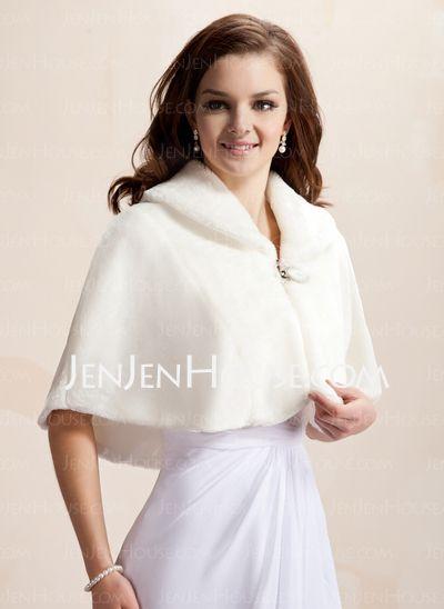 Wraps - $28.99 - Faux Fur Wedding Wrap (013005747) http://jenjenhouse.com/Faux-Fur-Wedding-Wrap-013005747-g5747