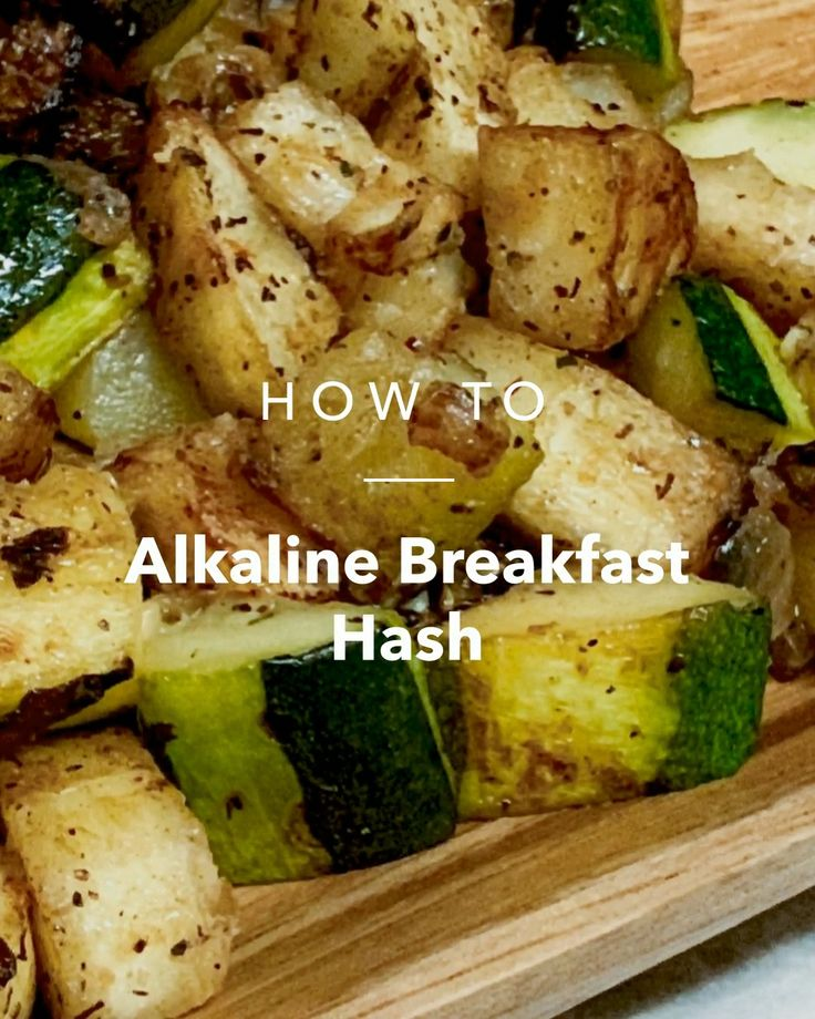 Alkaline breakfast hash recipe in 2020 alkaline