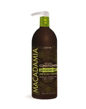 Интенсивно увлажняющий кондиционер Kativa для нормальных и поврежденных волос MACADAMIA, 1000мл