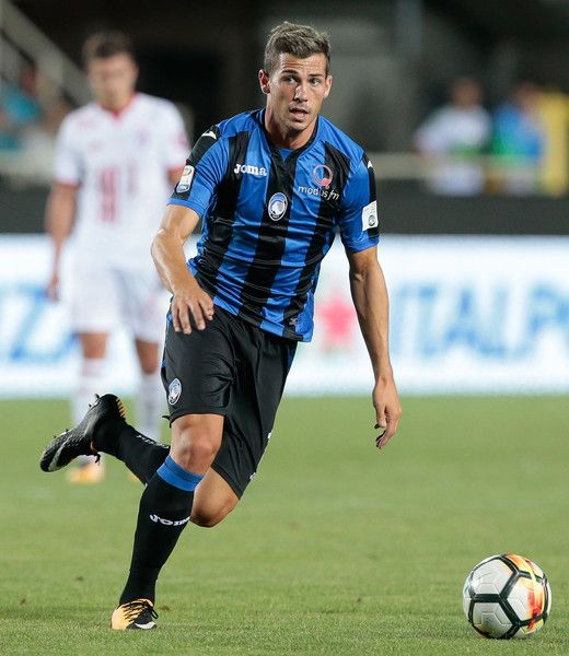 Remo Freuler of Atalanta BC in action during the pre-season friendly match between Atalanta BC and LOSC Lille at Stadio Atleti Azzurri d'Italia on July 26, 2017 in Bergamo, Italy.