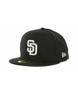 New Era San Diego Padres Mlb B-Dub 59FIFTY Cap - Black 7 3/8