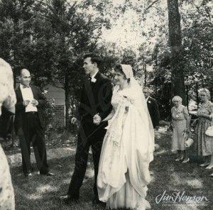 Wedding Picture 1959 Jim and Jane Hensen