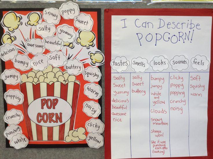 popcorn writing - make popcorn in class