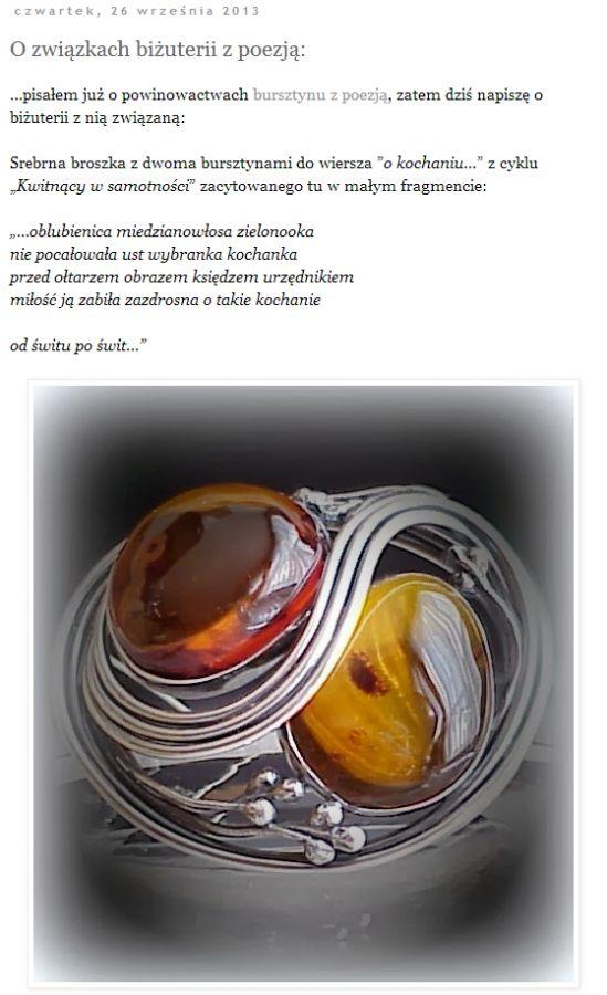 ...o poezji i biżuterii T.L. na THE ART VOICE: