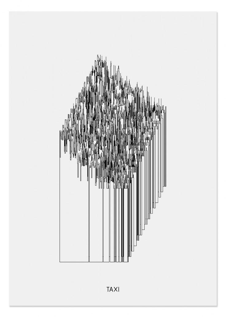 TAXI silk-screen print for London Records HQ. Julian Morey & Peter Saville, 2002.