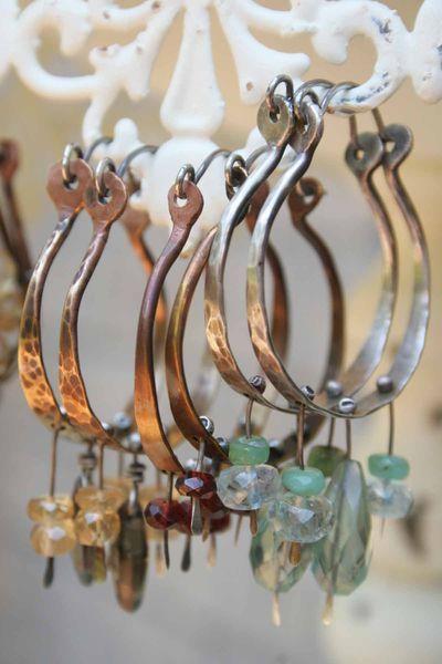 Beautiful dangle earrings from the studio of Deryn Mentock