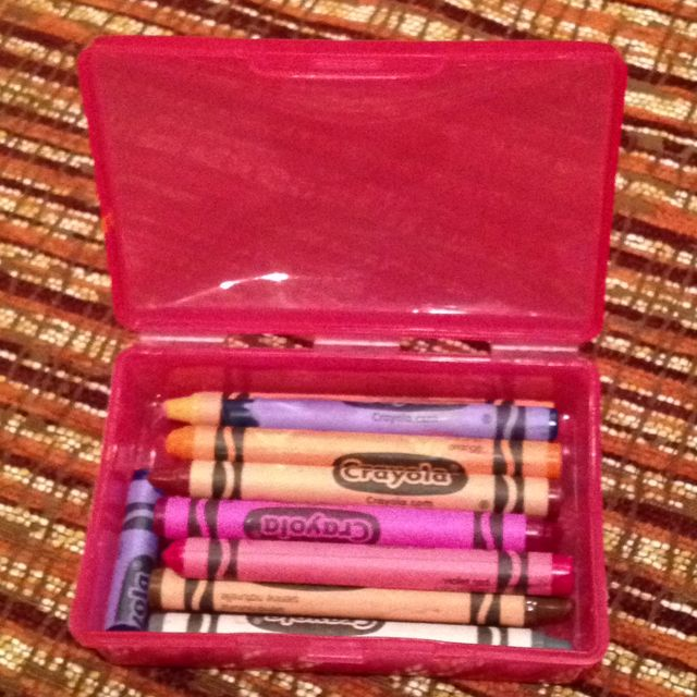 Use a soap box to travel with crayons! This worked great in my kids backpacks on the airplane. It also keeps them organized around the house-instead of being on the floor.