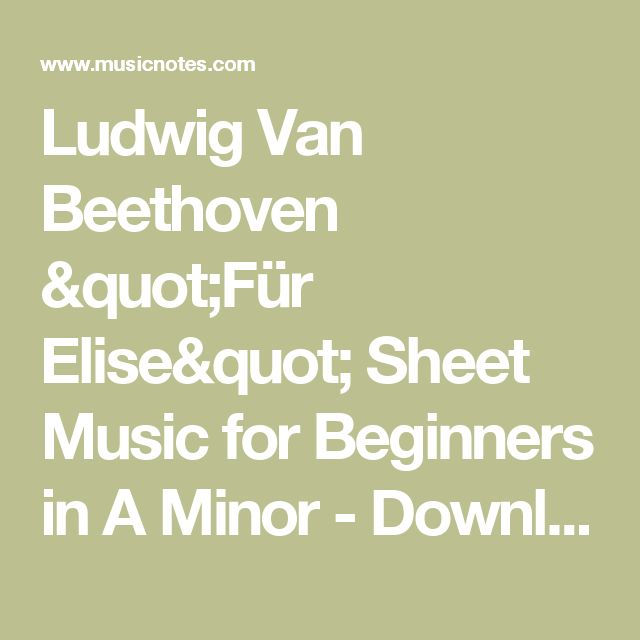 Fur Elise By Beethoven For Beginners Music For Music: 1000+ Ideas About Fur Elise Sheet Music On Pinterest