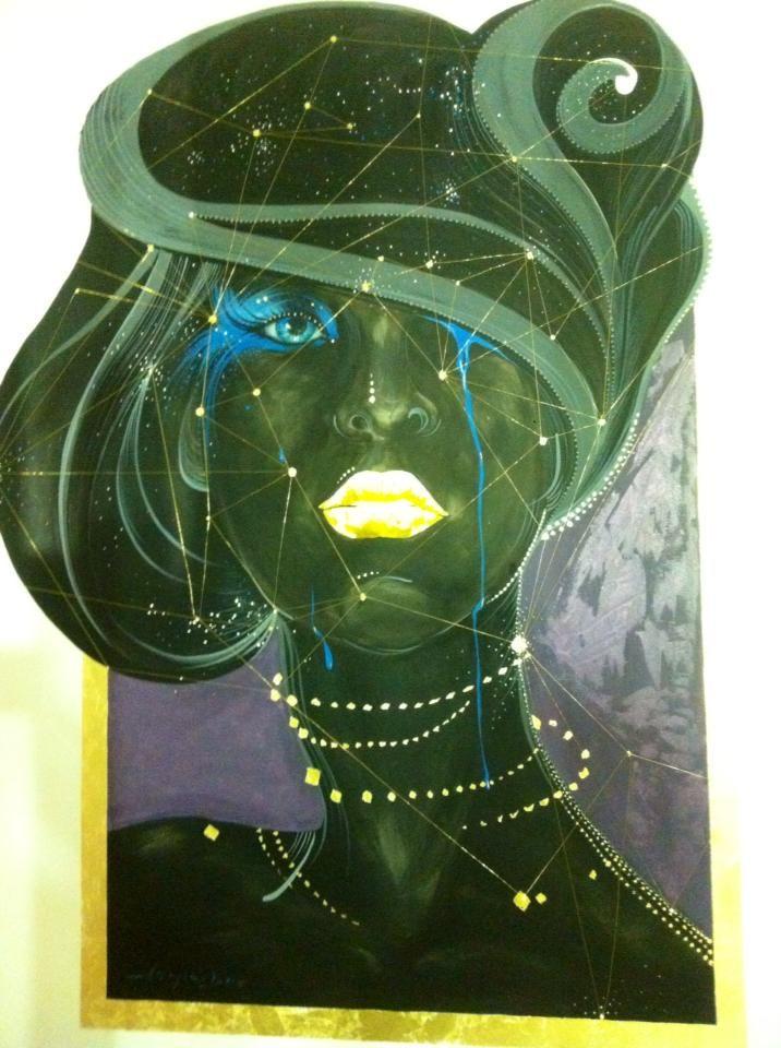 Blue eyes-mural painting