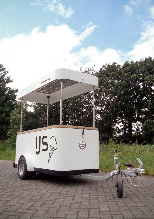 Sustainable Ice Cream Vending Machine with solar panels