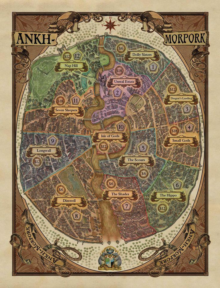 Ankh-Morpork (from Terry Pratchett's Discworld books)