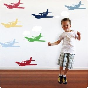 Planes removable wall stickers (seen here in large size)