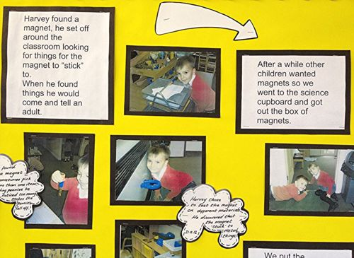 EYFS documentation - celebrating what children do.