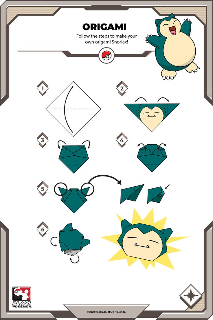 Follow the steps to make your own origami Snorlax! Fairy Tail Pictures, Play Pokemon, Paper Crafts Origami, Make Your Own, How To Make, Birthday Parties, Kids Rugs, Party Ideas, Projects