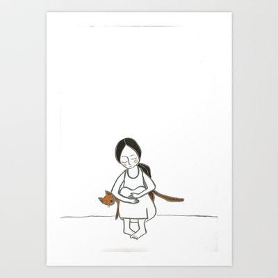 The Bad Feeling had Gone Art Print by Hayley Egan - $16.00