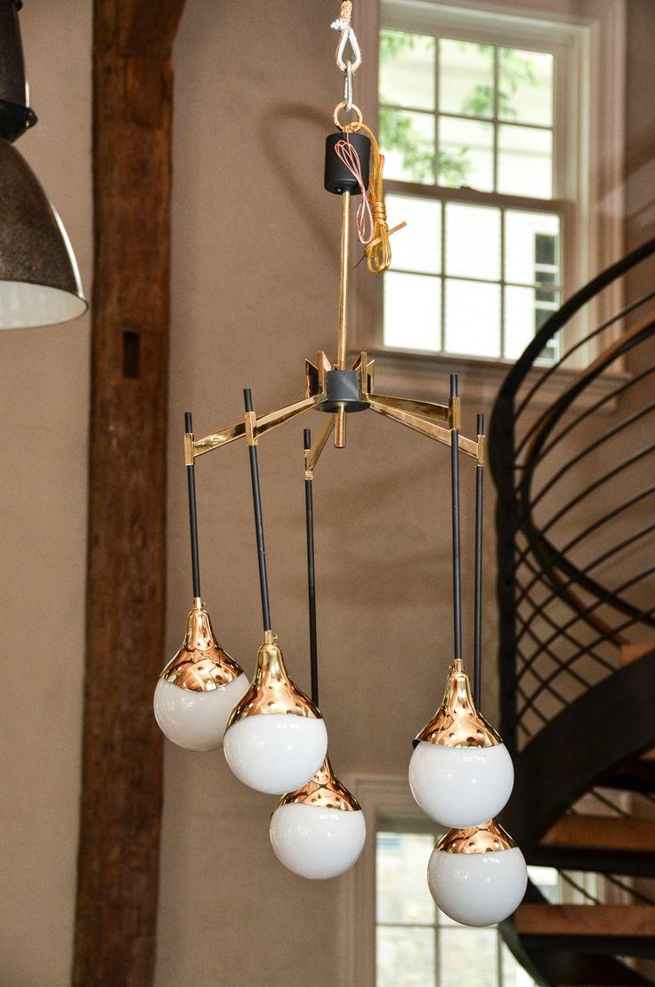 12 best ingo maurer images on pinterest light fixtures light 1950s italian chandelier in the style of stilnovo with glass globes arubaitofo Images