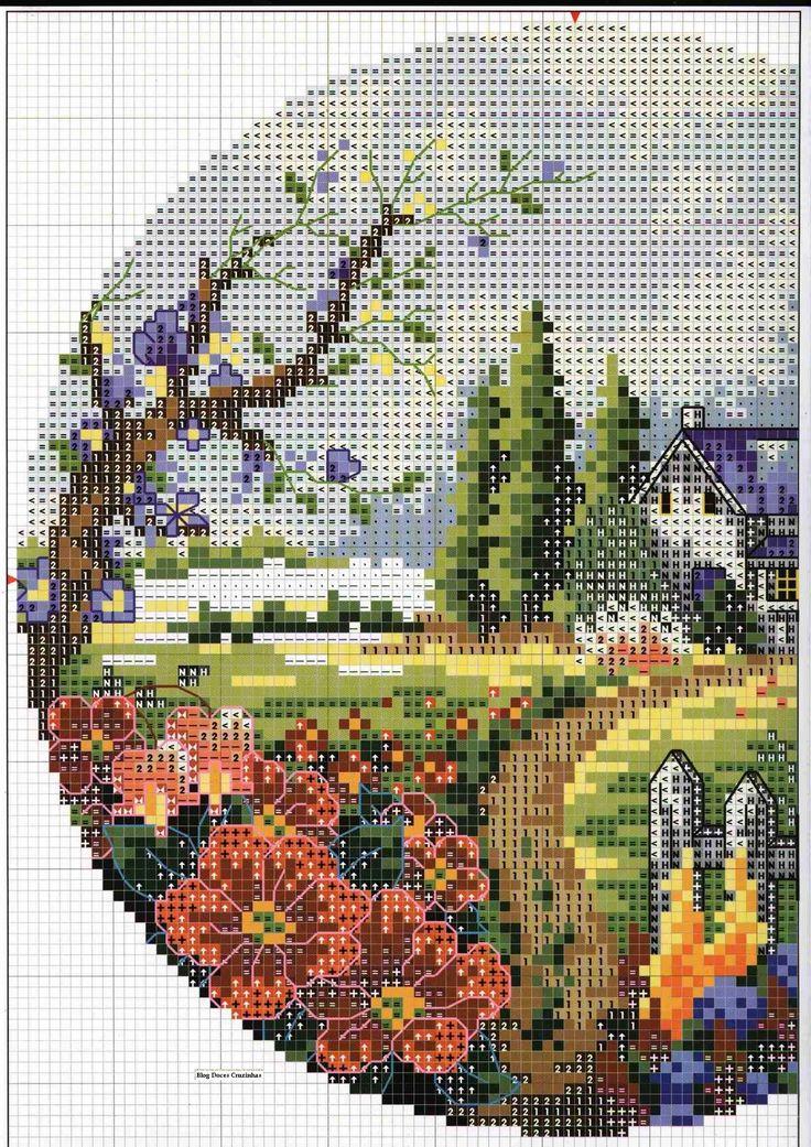 Summer  Garden Clock - Chart 1