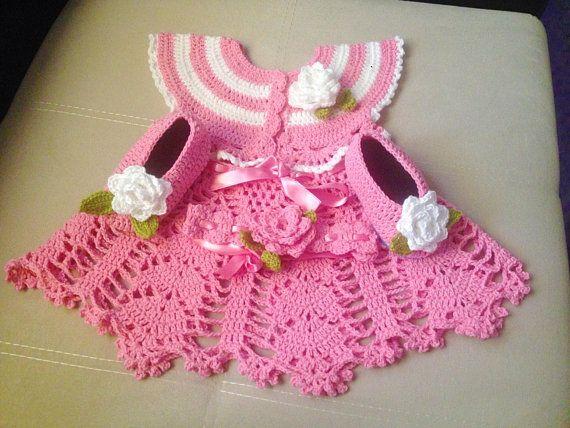69391d97bf95 Crochet Baby Dress Pattern set girls summer crochet dress