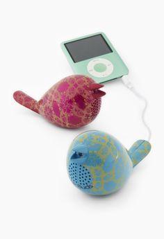 $34 - Bird speakers for iPod