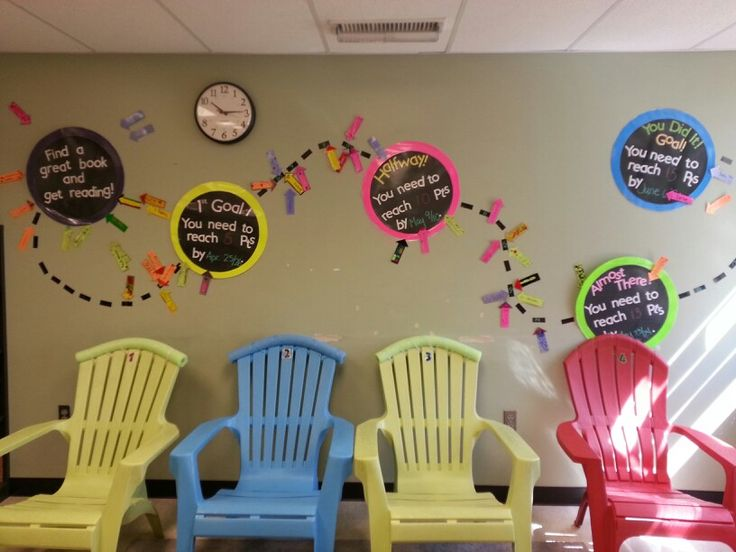 I actually have 4 chairs just like this that I was planning on using in my room in the fall. - Fun way to track progress in Read 180 - courtesy of @Christi Spadoni Aeschleman